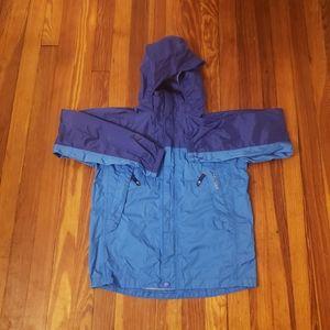 Youth Boy's Marmot Rain Jacket Size Large Blue Lig